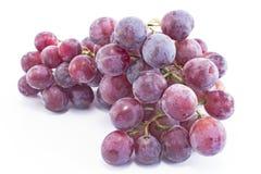 Cardinale Grapes isolato su bianco Fotografie Stock