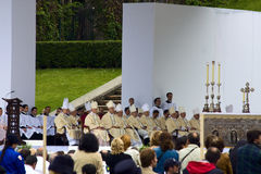 Cardinali a Genova immagine stock