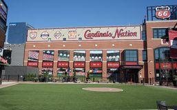 Cardinals Nation Outfield, Downtown St. Louis Royalty Free Stock Photography