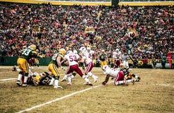 Cardinals vs Packers at Historic Lambeau Field, Green Bay WI.  stock photo