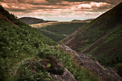 Carding Mill Vally. Carding Mill Valley, part of the Long Mynd (Shropshire Hills) area of outstanding natural beauty Stock Photo