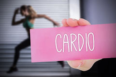 Cardio against people background Stock Photos