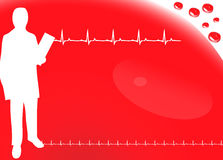 Cardio background with ecg icons, Blood Stock Photos
