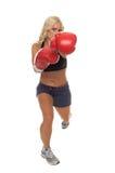 Cardio- boxe laissée le coup Image libre de droits