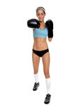 Cardio Boxing Right Cross Royalty Free Stock Images
