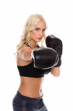 Cardio Boxing Straight Right stock image