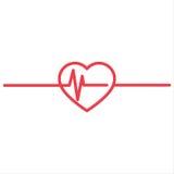 Cardio ecg eller ekg för hjärtslag Arkivbilder