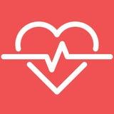 Cardio ecg eller ekg för hjärtslag Arkivfoto