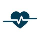 Cardio ecg eller ekg för hjärtslag Royaltyfri Fotografi