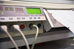 Cardio equipment. Part of a cardio machine in the maternity ward Stock Image