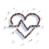 Cardio folk 3d för hjärta Vektor Illustrationer