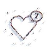 Cardio folk 3d för hjärta Stock Illustrationer