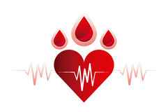 Cardio heart icon Royalty Free Stock Image