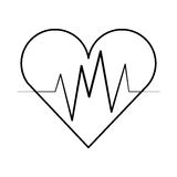Cardio- icône d'isolement de coeur Photographie stock libre de droits