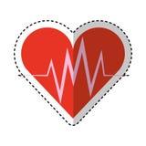 Cardio- icône d'isolement de coeur Images libres de droits