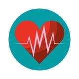 Cardio- icône d'isolement de coeur Image libre de droits