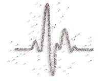 Cardio. Illustrations of cardio with piople Stock Photo