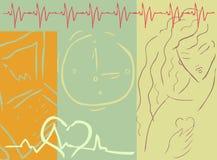 cardio läkarundersökning för bakgrund Arkivbilder