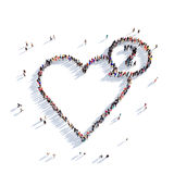 Cardio- povos 3d do coração Foto de Stock