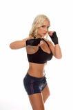 Cardio- réchauffage de boxe Photo stock