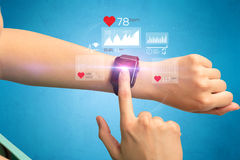 Cardio and smartwatch. Stock Images