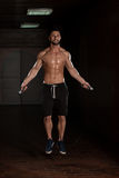Cardio Time With Jumping Rope Stock Image