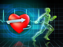 Cardio training Stock Photography