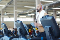 Cardio Training in Modern Gym Royalty Free Stock Images