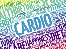 CARDIO word cloud background stock photography