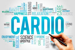 CARDIO. Word cloud, fitness, sport, health concept royalty free stock photo