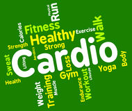 Cardio Word Indicates Get Fit And Aerobics Royalty Free Stock Photo