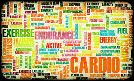 Cardio Workout. Or High Intensity Fitness Concept Stock Photography