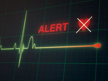 Cardiogram сердцебиений на мониторе Стоковые Фотографии RF