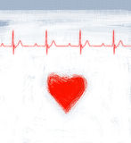 Cardiogram. Healthy heart, medical illustration royalty free illustration