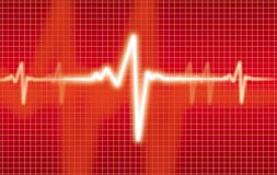 Cardiogram. White cardiogram on the red Royalty Free Stock Images