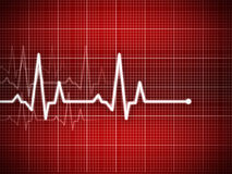 Cardiogram. Illustration with grid background Royalty Free Stock Photography