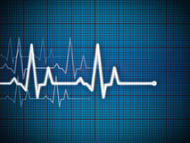 Cardiogram. Illustration with grid background Stock Photos