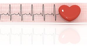 cardiogram royaltyfri illustrationer