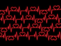 Cardiogram. 3D abstract image Stock Images