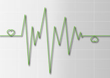 ECG readout Royalty Free Stock Images