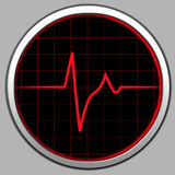 Cardiogram & radar Foto de Stock Royalty Free