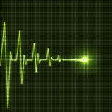 Cardiogram astratto di battimenti di cuore Immagini Stock Libere da Diritti
