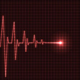 Cardiogram astratto di battimenti di cuore illustrazione di stock