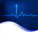 Cardiogram background. Royalty Free Stock Photography