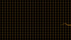 Cardiogram cardiograph oscilloscope screen with grid orange yellow loop stock video footage