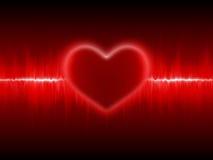 Cardiogram del cuore Immagini Stock