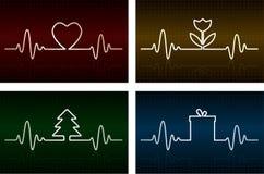 Cardiogram del cuore illustrazione di stock