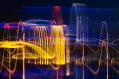 Cardiogram della città di notte Fotografia Stock Libera da Diritti