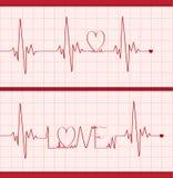 Cardiogram di amore illustrazione di stock