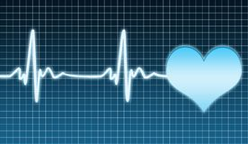 Cardiogram di cuore Fotografie Stock